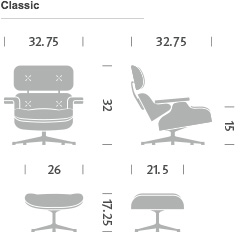 Eames Lounge Chair and Ottoman Product Configurator Herman